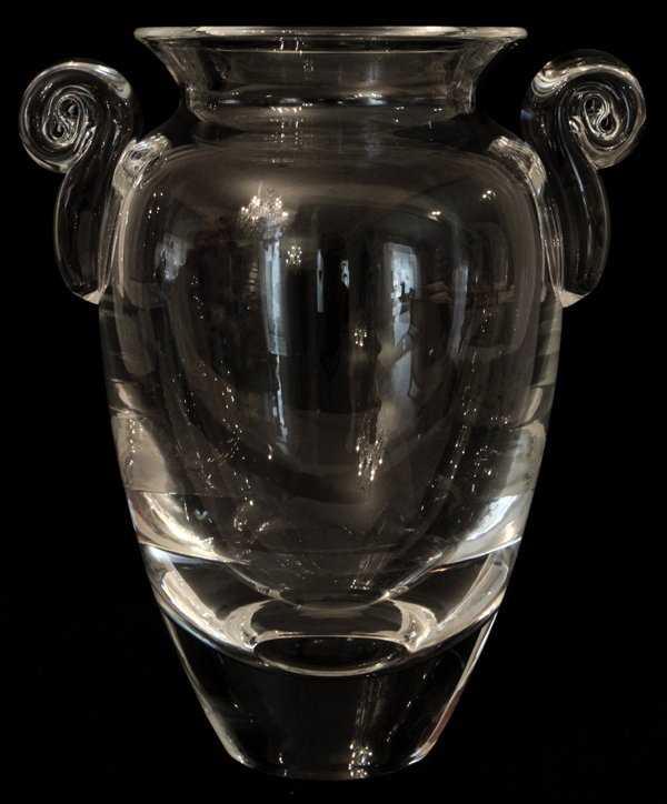 061086 Steuben Glass Hellenic Urn Vase H 9 12
