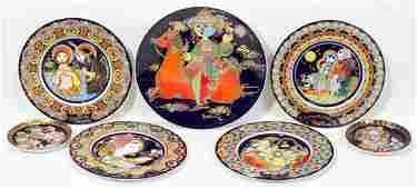 061351: BJORN WIINBLAD FOR ROSENTHAL PORCELAIN PLATES
