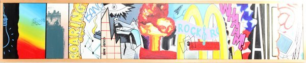 062002: (JOHN MATOS) CRASH, ACRYLIC ON CANVAS