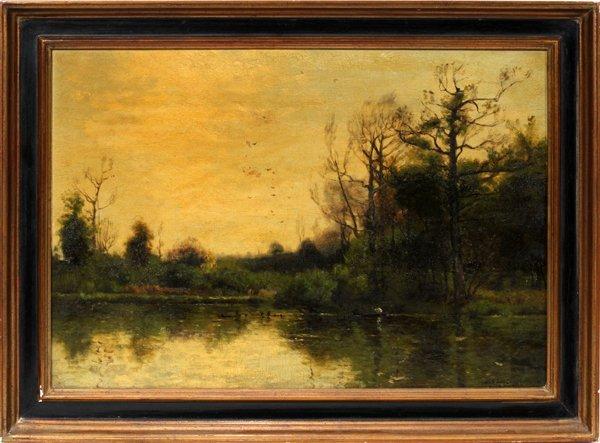 062018: CHARLES HENRY EATON, AMER B. 1850 OIL ON BOARD
