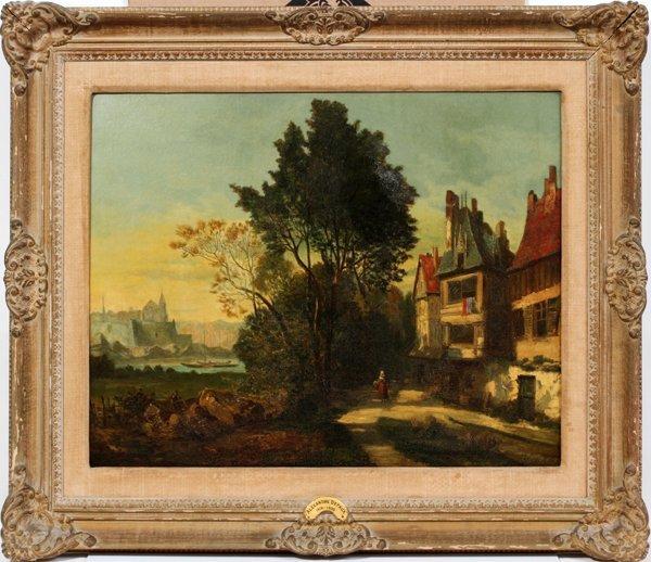 062020: ALEXANDRE DEFAUX (FRENCH 1826-1900), OIL/CANVAS