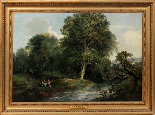062021: F. W. WATTS, R.A. [1800 - 70] OIL/CANVAS
