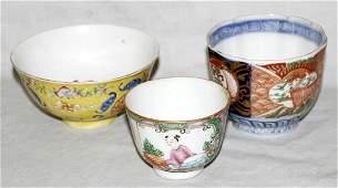 101355: CHINESE & JAPANESE PORCELAIN TEA & RICE BOWLS