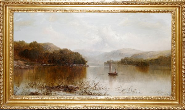 102016: W.P. GEORGE, OIL ON CANVAS, 'LAKE WINDEMERE'