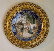 102055: HAND PAINTED GERMAN PORCELAIN CHARGER