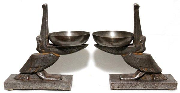071002: EDGAR-WILLIAM BRANDT (1880-1960), IRON PELICAN
