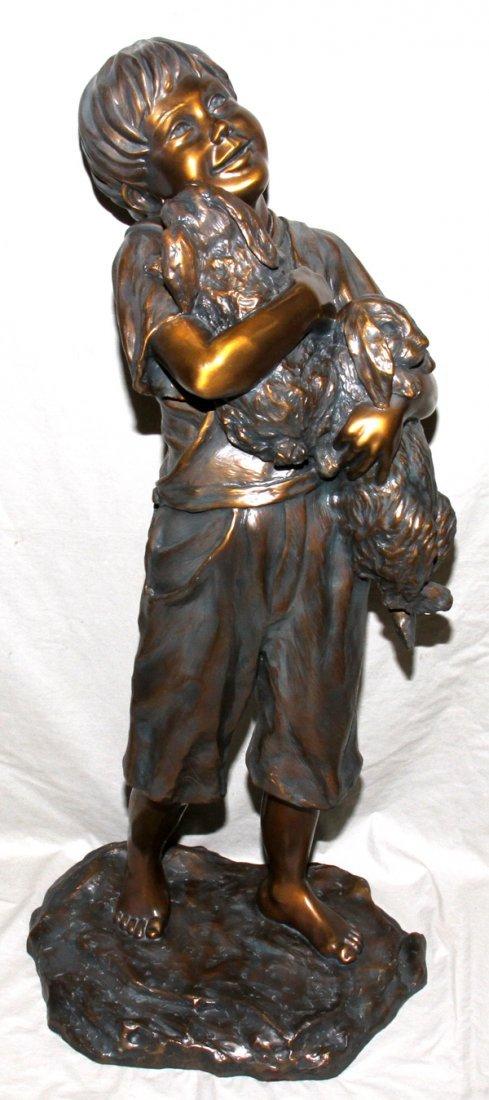 071008: ROSALIND COOK (20TH C.), BRONZE GARDEN SCULPTUR