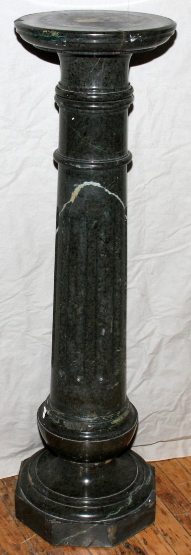 "071010: ITALIAN MARBLE PEDESTAL, C. 1900, H 43"", W 12"""