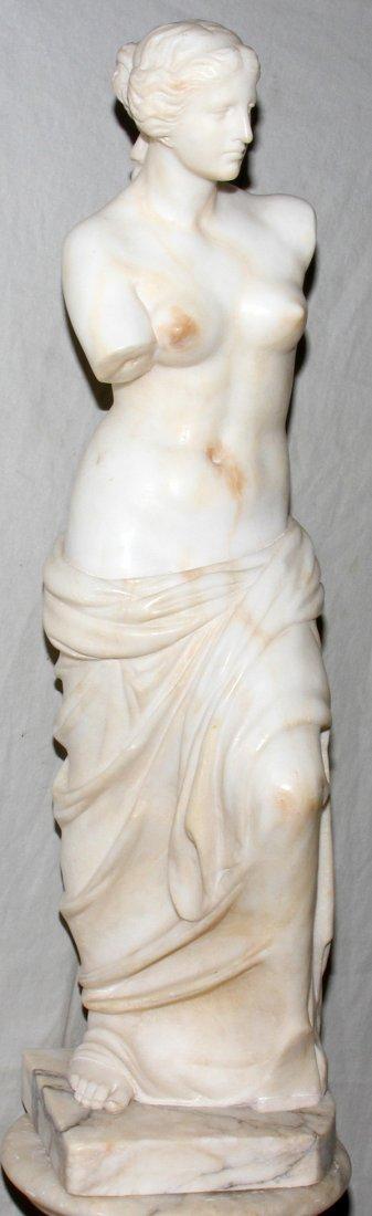 "071011: ITALIAN CARRARA MARBLE SCULPTURE 31"" VENUS DE M"