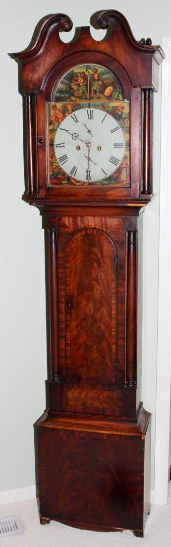 071016: SCOTTISH MAHOGANY TALL CASE CLOCK, JAS. MCGILL,