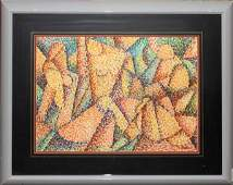 071227 TESSON PASTEL ON PAPER 16 X 21 ABSTRACT FI