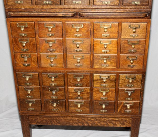 071468: GAYLORD BROS. OAK LIBRARY CARD CATALOG CABINETS - 2