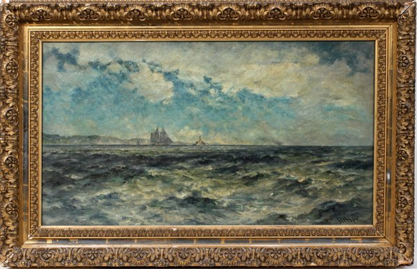 072001: ROBERT HOPKIN [AMERICAN 1832-1909], OIL/CANVAS