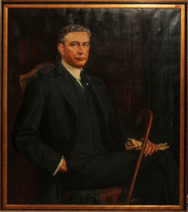 072005: ROY C. GAMBLE (AMERICAN 1887-1972), OIL/CANVAS