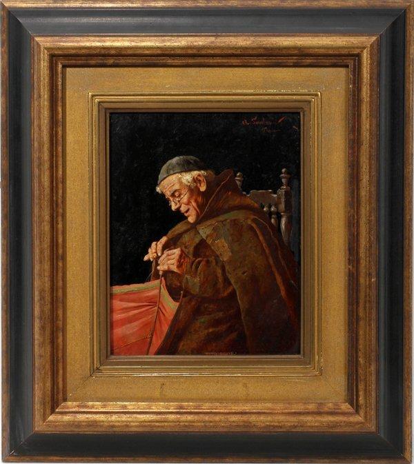 072020: ARNALDO TAMBURINI, 1843 - 01 OIL ON PANEL