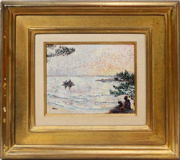 072023: YVONNE CANU [FRENCH 1921- 2007], OIL ON MASONIT