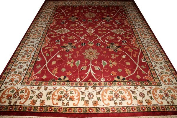 080013: INDIAN HAND MADE ORIENTAL RUG, 9' X 12'