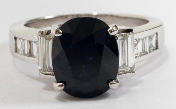 080016: 5.43CT NATURAL SAPPHIRE & 1.40CT DIAMOND RING