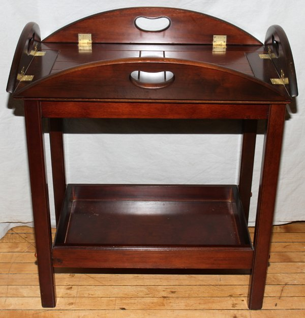 THE BOMBAY CO MAHOGANY BUTLER S TABLE H 31""