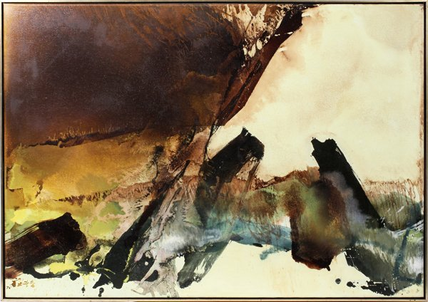 082003: CHUANG CHE (CHINESE AMERICAN B.), OIL ON CANVAS