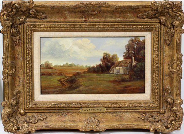 082015: JOSEPH THORS 1843-1898, OIL ON WOOD PANEL
