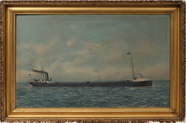 082017: ANTONIO JACOBSEN ([AMERICAN), OIL ON CANVAS
