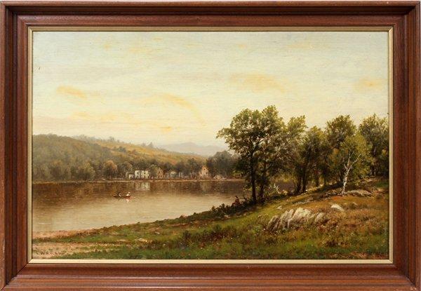082018: CHARLES WILSON KNAPP (1823-1900), OIL ON CANVAS