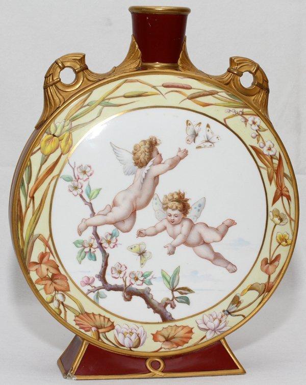 090004: MINTONS PORCELAIN MOON VASE, C. 1875,