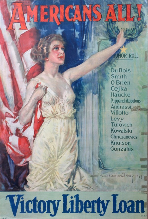 090014: HOWARD CHANDLER CHRISTY, WWI VICTORY POSTER