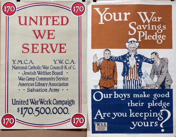 090016: WWI BOND 'SAVINGS PLEDGE CAMPAIGN' POSTERS TWO