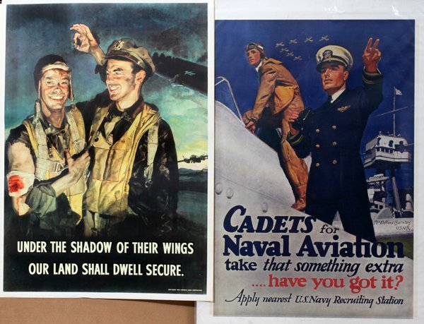 090021: U.S. NAVY & AIR CORP RECRUITMENT POSTERS, TWO,