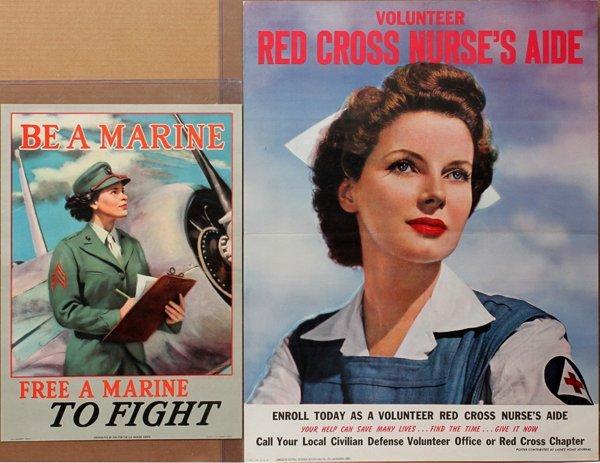 090022: U.S. MARINE & RED CROSS RECRUITMENT POSTERS, TW