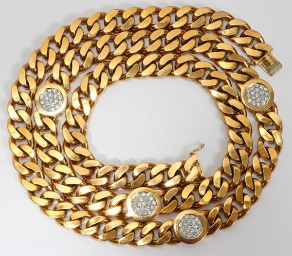 """090102: 18 KT YELLOW GOLD NECKLACE, L 32"""""""