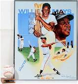 090349: WILLIE MAYS AUTOGRAPHED BASEBALL AND RON LEWIS