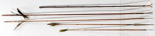 090419: NATIVE AMER INDIAN WEAPONS SPEARS, ARROWS AND