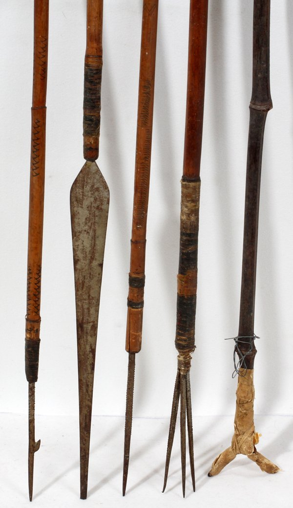090419: NATIVE AMER INDIAN WEAPONS SPEARS, ARROWS AND - 2