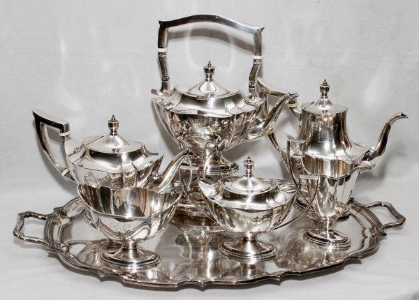 091014: GORHAM STERLING TEA & COFFEE SERVICE, 5 PCS