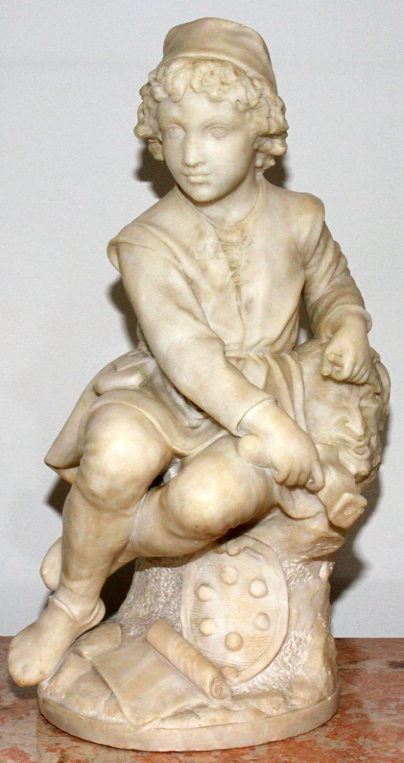091020: PIETRO BAZZANTI MARBLE SCULPTURE, FLORENCE,