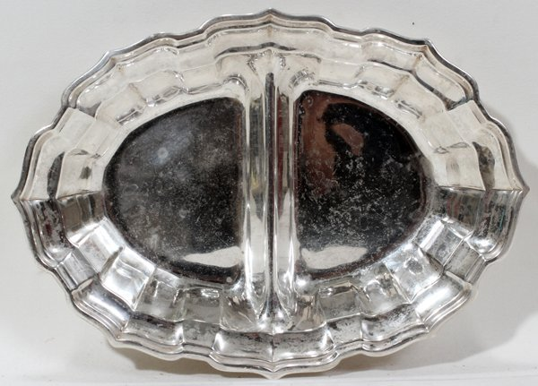 091181: FRANK SMITH SILVER CO CHIPPENDALE STERLING DISH