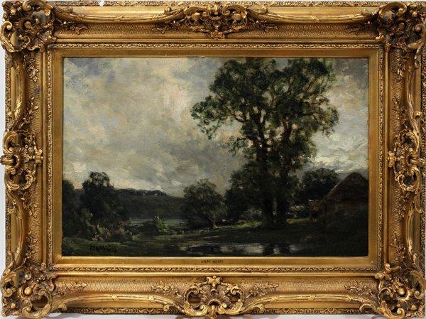 092011: JOSÉ WEISS (BRITISH 1859-1929), OIL ON CANVAS,