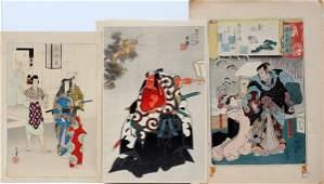 092432 JAPANESE UKIYOE COLOR WOODBLOCK PRINTS 3