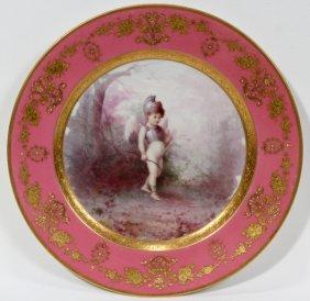 100001: LENOX PORCELAIN CABINET PLATE BY HANS NOSEK