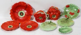ROYAL BAYREUTH 'POPPY' PORCELAIN TABLEWARE,