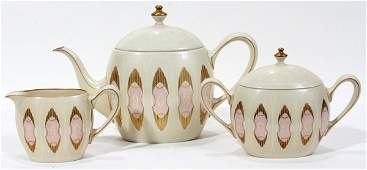 100329 LENOX ART DECO PORCELAIN TEA SERVICE 3 PCS