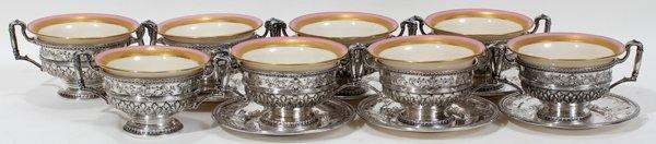 101002: INT 'MARIE ANTOINETTE' STERLING CREAM SOUPS