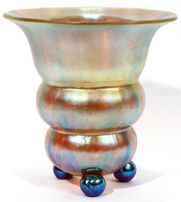 101011: LOETZ CANDIA PAPILLION GLASS VASE, C. 1920,