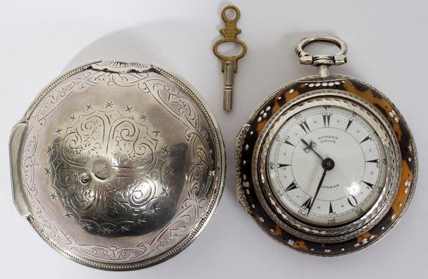 101031: EDWARD PRIOR OF LONDON TRIPLE-CASE POCKET WATCH