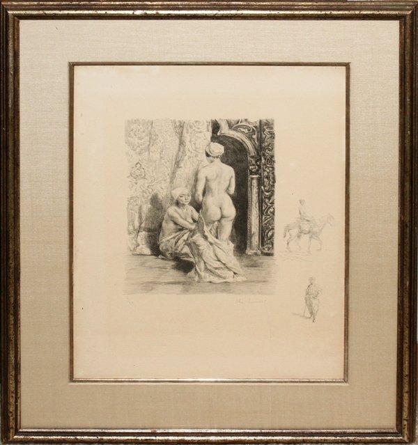 101321: ALEXANDRE LUNOIS (1863-1916), ENGRAVING, #6/20,