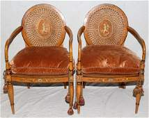 102026 ADAMS STYLE OPEN ARM CHAIRS PAIR H 37