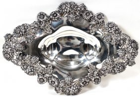 111001: DOMINICK & HAFF STERLING SILVER TRAY, 1896,